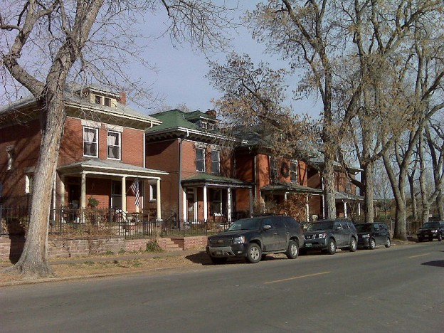 Homes in the lower Highlands neighborhood of Denverq